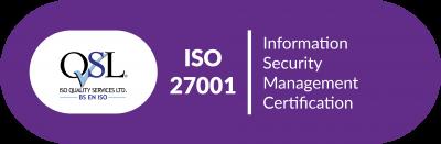 ISO QSL Cert ISO 27001